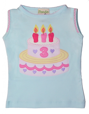 PimaCotton - Birthday Girl Outfit, Aqua Top