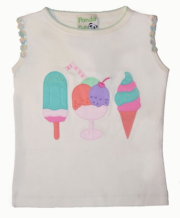 PimaCotton - Ice Cream Summer Ivory Top