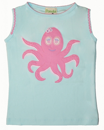 PimaCotton - Pink Octopus Aqua Top