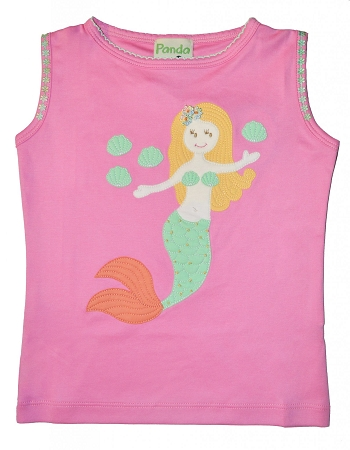 PimaCotton - Mermaid & Sea Shells Pink Top