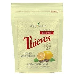 Thieves Essential Oil Infused Cough Drops Lemon Flavor