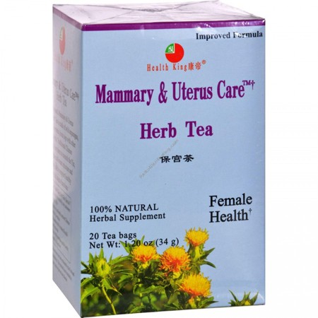 Health King and Balanceuticals Herb Tea - Mammary & Uterus Care - 20 Bags