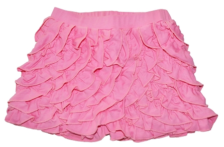 PimaCotton - Flamingo Pink Ruffle Shorts
