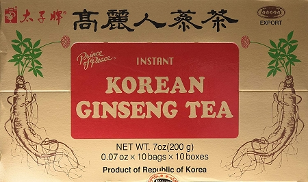 Prince Of Peace Instant Korean Panax Ginseng Tea - 100 Count