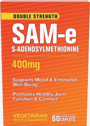 SAM-e 400 mg  Vegan Dietary Supplement [Supports Healthy Mood and Joint Comfort]